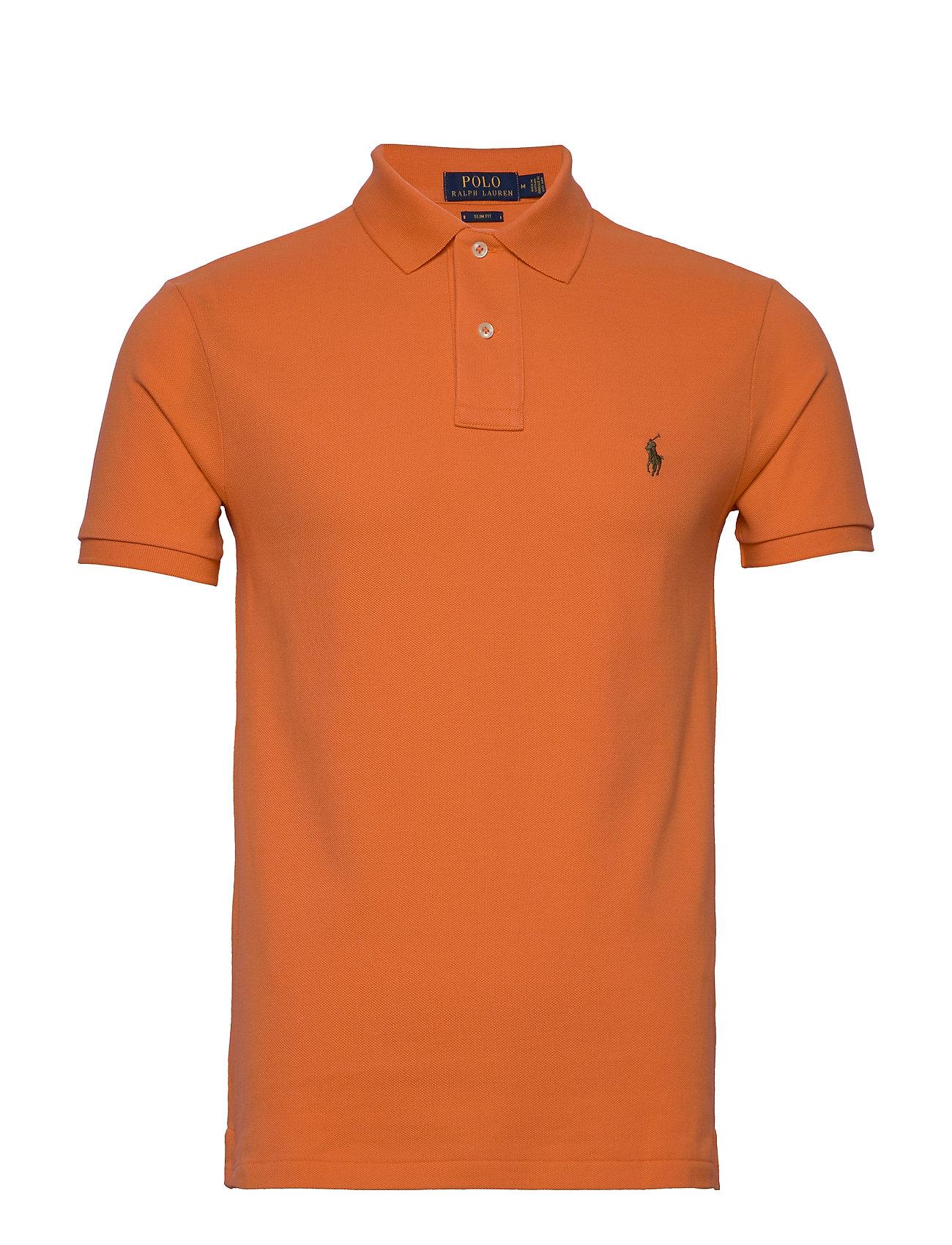 Polo Ralph Lauren Slim Fit Mesh Polo Shirt - SOUTHERN ORANGE/C