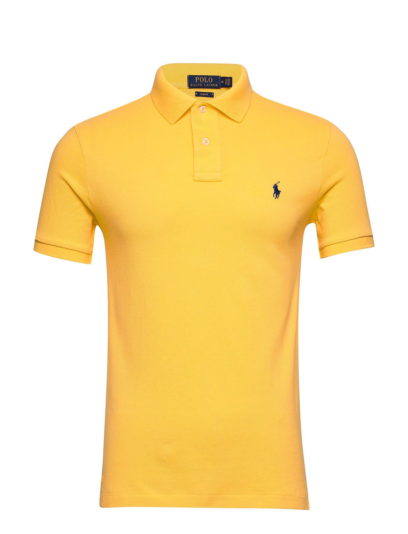 Polo Ralph Lauren Slim Fit Mesh Polo Shirt - YELLOWFIN/C7315