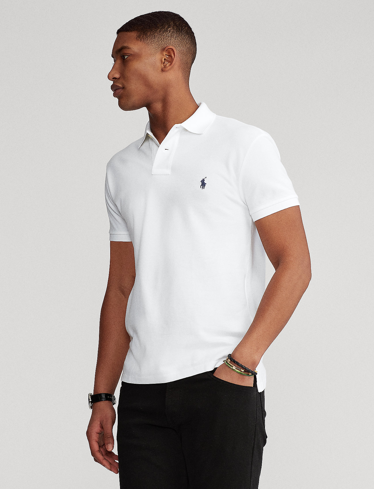 Polo Ralph Lauren - Slim Fit Mesh Polo Shirt - short-sleeved polos - white - 0