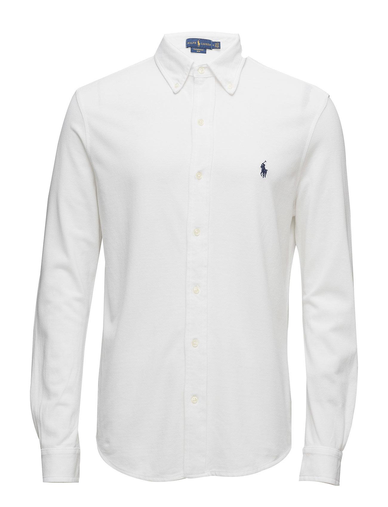 Polo Ralph Lauren Custom Fit Featherweight Mesh Shirt - WHITE