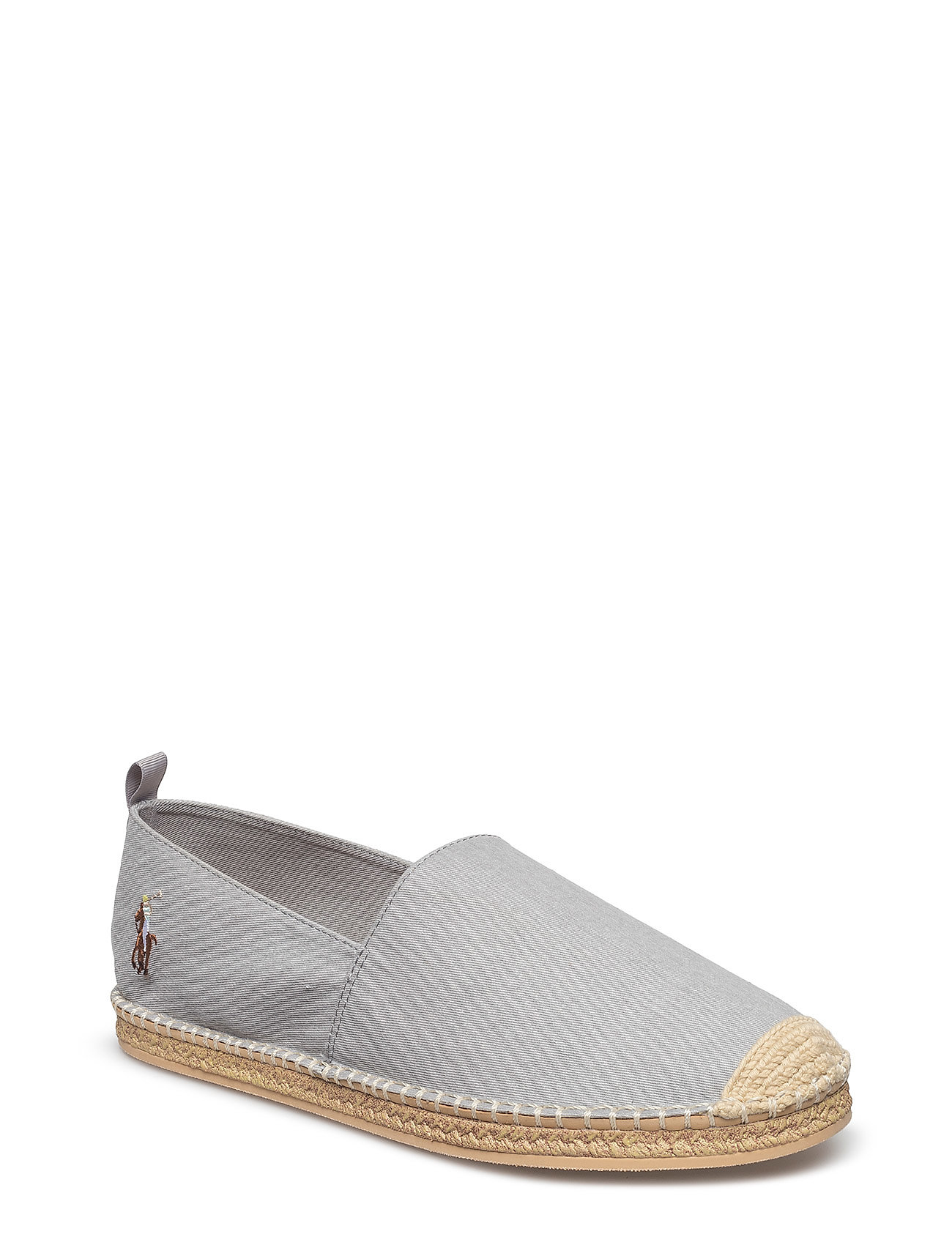 Polo Ralph Lauren BARRON WASHED-TWILL ESPADRILLE - SOFT GREY