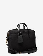 Polo Ralph Lauren - Leather-Trim Canvas Briefcase - briefcases - black/black - 2