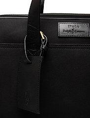 Polo Ralph Lauren - Leather-Trim Canvas Briefcase - briefcases - black/black - 4