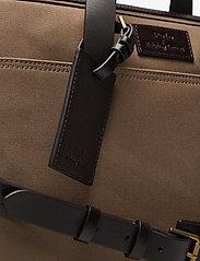 Polo Ralph Lauren - Leather-Trim Canvas Briefcase - briefcases - khaki/dark brown - 3