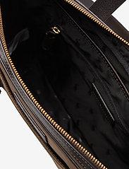 Polo Ralph Lauren - Leather-Trim Canvas Briefcase - briefcases - khaki/dark brown - 4