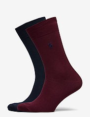 Polo Ralph Lauren - FLAT KNIT-CREW-2 PACK - regular socks - cruise navy/class - 0
