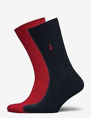 Polo Ralph Lauren - EGYPTIAN COTTON-EG RIB CTN 2PK - regular socks - park ave red/crui - 0
