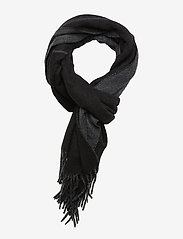 Polo Ralph Lauren - OVRSZED POLO-OBLONG SCARF - scarves - black/charcoal - 0