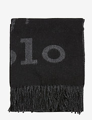 Polo Ralph Lauren - OVRSZED POLO-OBLONG SCARF - scarves - black/charcoal - 2