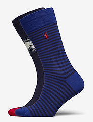 Polo Ralph Lauren - COMBED COTTON-HILL SKIER-CRW-2PK - regular socks - crse nvy/cream/pr - 0