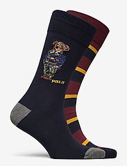 Polo Ralph Lauren - COMBED COTTON-BIG BEARS-CRW-2PK - regular socks - navy/foster grey/ - 1