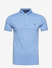 Polo Ralph Lauren - Slim Fit Stretch Mesh Polo - lyhythihaiset - cabana blue - 0