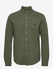 Featherweight Mesh Shirt - MOSS GREEN HEATHE