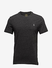 Polo Ralph Lauren - Custom Slim Crewneck T-Shirt - lyhythihaiset - black marl heathe - 0