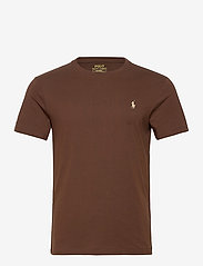 Polo Ralph Lauren - Custom Slim Crewneck T-Shirt - basic t-shirts - cooper brown/c831 - 0