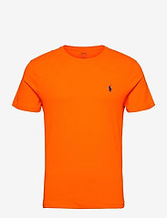 Custom Slim Fit Jersey Crewneck T-Shirt - SAILING ORANGE/C7