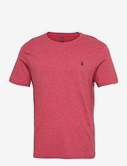 Custom Slim Fit Jersey Crewneck T-Shirt - VENETIAN RED HEAT
