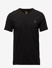Polo Ralph Lauren - Custom Slim Fit V-Neck T-Shirt - short-sleeved t-shirts - black marl heathe - 0