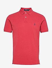 Custom Slim Fit Mesh Polo Shirt - CHILI PEPPER/C797