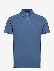 Custom Slim Fit Mesh Polo Shirt - DELTA BLUE/C4488