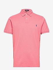 Custom Slim Fit Mesh Polo Shirt - DESERT ROSE/C7512