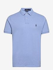 Custom Slim Fit Mesh Polo Shirt - DRESS SHIRT BLUE/