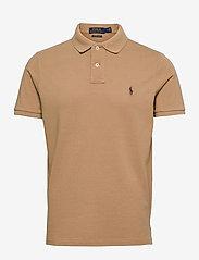 Custom Slim Fit Mesh Polo Shirt - LUXURY TAN/C8888