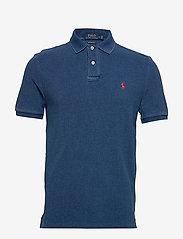 Custom Slim Fit Mesh Polo Shirt - MEDIUM INDIGO/C38