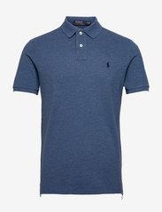 Custom Slim Fit Mesh Polo Shirt - ROYAL HEATHER/C75