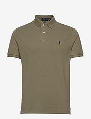 Custom Slim Fit Mesh Polo Shirt - SAGE GREEN/C7998