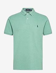 Custom Slim Fit Mesh Polo Shirt - SEAFOAM/C7976