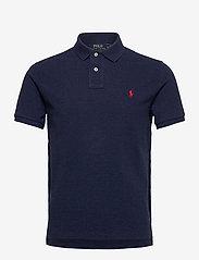 Polo Ralph Lauren - Custom Slim Fit Mesh Polo - short-sleeved polos - spring navy heath - 0