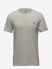 Polo Ralph Lauren - Custom Slim Fit Cotton T-Shirt - basic t-shirts - new grey heather - 1