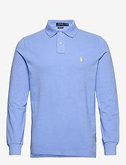 Polo Ralph Lauren - Custom Slim Fit Mesh Polo - pitkähihaiset - cabana blue - 0