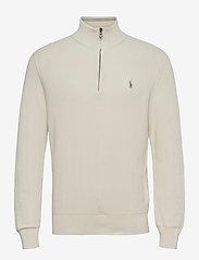 Cotton Half-Zip Sweater - ANTIQUE CREAM