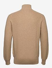 Polo Ralph Lauren - Cotton Half-Zip Sweater - half zip - camel melange - 2