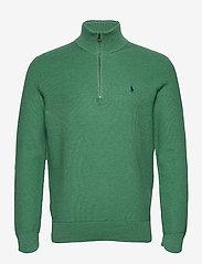 Cotton Half-Zip Sweater - POTOMAC GREEN HEA