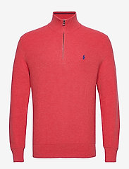 Cotton Half-Zip Sweater - ROSETTE HEATHER