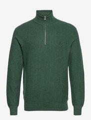 Cotton Half-Zip Sweater - SCOTCH PINE HEATH