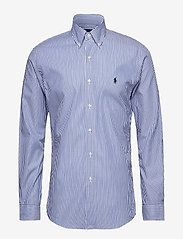 Polo Ralph Lauren - Slim Fit Stretch Cotton Shirt - business shirts - blue/white bengal - 1