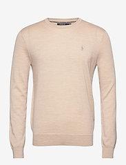 Slim Washable Merino Sweater - OATMEAL HEATHER