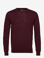 Slim Washable Merino Sweater - RICH RUBY HEATHER