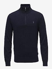 Merino Quarter-Zip Sweater - HUNTER NAVY