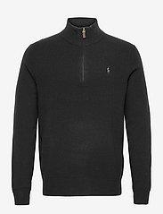 Polo Ralph Lauren - Merino Quarter-Zip Sweater - half zip - polo black - 0