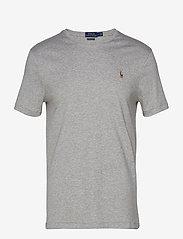Polo Ralph Lauren - Custom Slim Fit Interlock Tee - short-sleeved t-shirts - andover heather - 0