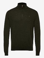 Polo Ralph Lauren - Washable Merino Wool Sweater - half zip jumpers - olive two tone - 1