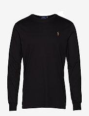 Polo Ralph Lauren - Custom Slim Interlock T-Shirt - langermede t-skjorter - polo black - 0