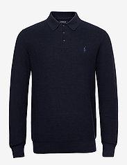 Polo Ralph Lauren - Cotton Polo-Collar Sweater - half zip - navy heather - 0