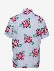 Polo Ralph Lauren - Classic Fit Seersucker Shirt - kortermede skjorter - 4587 hibiscus flo - 1
