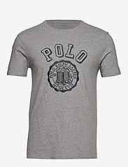 Polo Ralph Lauren - Custom Slim Graphic T-Shirt - short-sleeved t-shirts - andover heather - 0